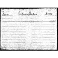 Anderson, Andrew. Pension Application