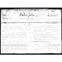 Baker, John. Pension Application